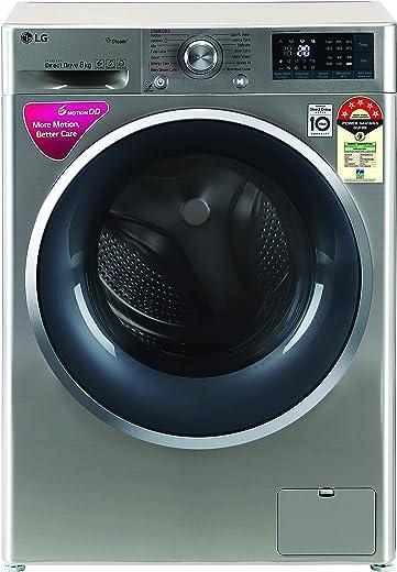 LG 8 Kg 5 Star Inverter Wi-Fi Fully-Automatic Front Loading Washing Machine (FHT1408ZWS, VCM, Turbowash)