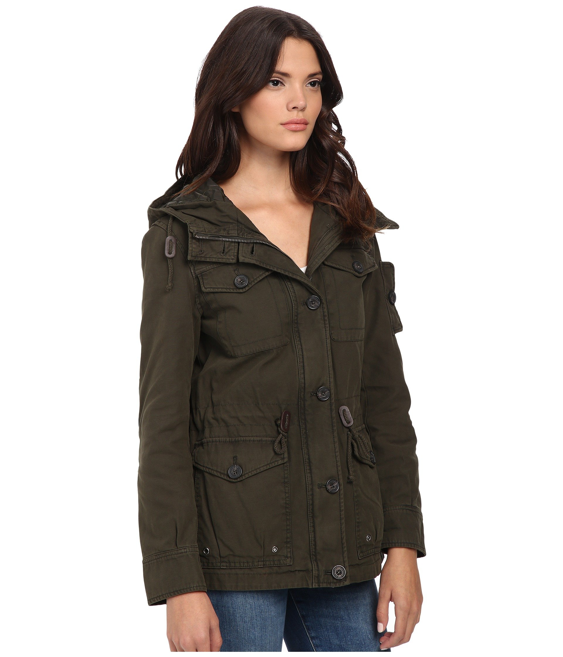 Levi's® Washed Green Army Four Cotton Military Fashion W pocket Hood RZwRqrd