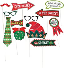Ugly Sweater Photo Stick Props for Christmas (12 pieces) Apparel Accessories - Costume Accessories - Costume Props - Christmas