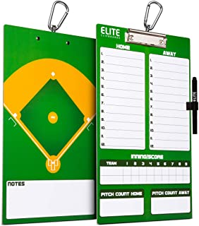 Best Elite Clipboards Dry Erase Coaches Clipboard | Double-Sided Coach Marker Board for Basketball Baseball Football Soccer Hockey Lacrosse & Volleyball Review