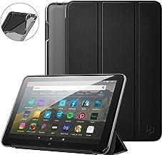 Fire HD 8 2020 ケース Dadanism New Fire HD 8/8 Plus 2020 第10世代 カバー タブレットケース 全面保護 三つ折りスタンド 半透明TPUバック オートスリープ スタンド機能付き ソフト 正面合成革 耐久性 スマートカバー Black