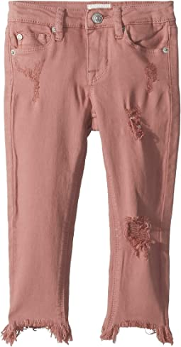 Chewed Hem Ankle Skinny in Mauve Glow (Toddler/Little Kids)