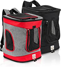 Heavy Duty Pet Carrier Backpack - Lightweight & Ergonomic Dog Carrier with Comfy Straps - Multipurpose Small Animal Carrying Back Pack with Mesh Openings - Easy to Clean Dog Carry Bag for Pet Owners