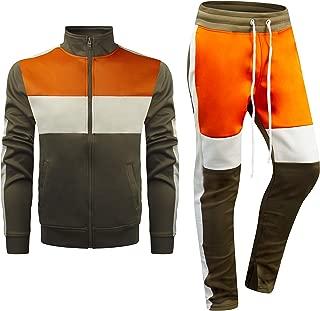 New Men Stripe Zip Pocket Track Pants Sweatsuit Men's Tracksuits Zipper Joggers