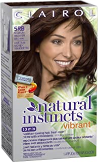 Clairol Natural Instincts Vibrant Permanent Hair Color 5rb, Fiery Cinnamon Medium Reddish Brown 1 Kit