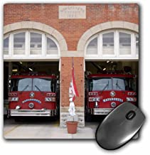 """3D Rose""""Fire Station With Trucks At Wapakoneta OhioUs36 Dfr0056David R. Frazier"""" Matte Finish Mouse Pad - 8 x 8"""" - mp_93377_1"""