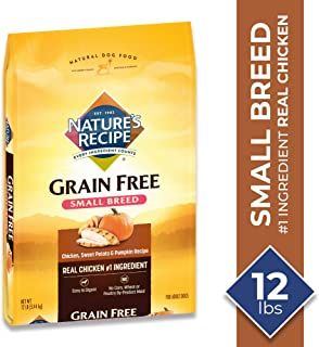 Nature's Recipe Grain Free Small Breed Dry Dog Food, Chicken, Sweet Potato & Pumpkin
