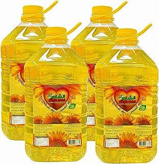 Al Sham Pure Sunflower Oil, 5 Litre x 4