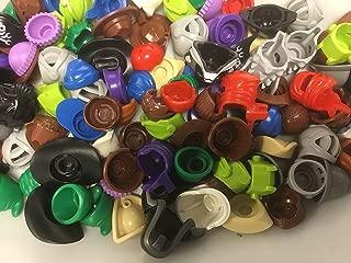 LEGO Authentic Minifigure Parts Helmet Hair Hats (15 Parts)