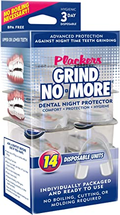 Plackers Grind No More Dental Night Guard for Teeth Grinding, 14 Count