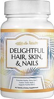 "Naturelle Health'""s Delightful Hair, Skin & Nail Vitamins - with Biotin, Vitamin A, C, D, Folic Acid ' Helps Increase Hair..."