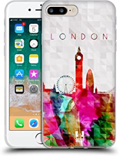 Head Case Designs Big Ben London England Watercoloured Skyline Soft Gel Case Compatible for iPhone 7 Plus/iPhone 8 Plus