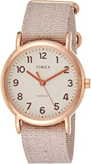 Timex Women's Quartz Watch, Analog Display and Textile Strap TW2R92400