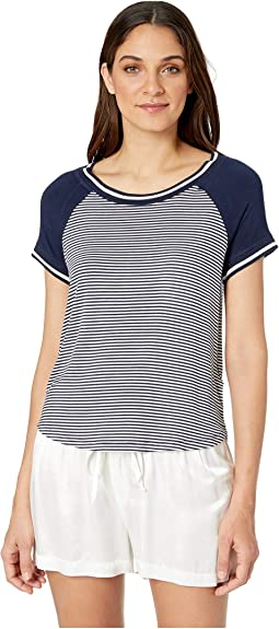 Striped Raglan PJ Tee