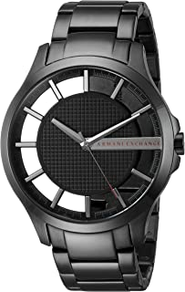 Men's Black IP Stainless Steel Watch