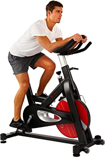 Sunny Health & Fitness Evolution Pro Magnetic Belt Drive Indoor Cycling Bike, 330 lb User Weight Limit, 44 lb Flywheel - SF-B1714