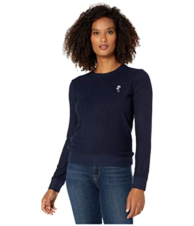 Lucky Brand Floral Embroidered Sweatshirt (American Navy) Women