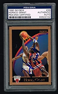 Horace Grant signed autograph auto 1990 SkyBox Basketball Card #39 PSA Slabbed