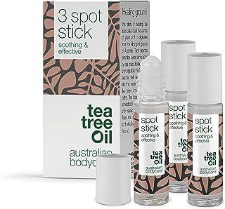Australian Bodycare Spot Stick 3 x 9ml | Roll-on na niedoskonałości skóry | Działa kojąco i oczyszczająco na pryszcze, zas...