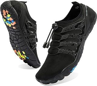 Men's Water Shoes Barefoot Quick-Dry Sports Shoes Aqua Socks for Swim Diving Surf Pool Aqua Sports Beach Walking Wide Toe Shoes