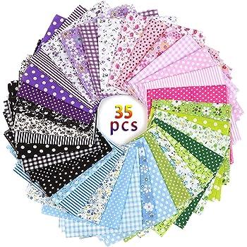 Jolintek Tela Algodon Telas Patchwork 35 PCS 25 x 25cm Tela de Algodón Patchwork Paquete de Tela de Telas de Algodón de Estampada Flores para Tela Patchwork Costura Manualidades DIY: Amazon.es: Hogar