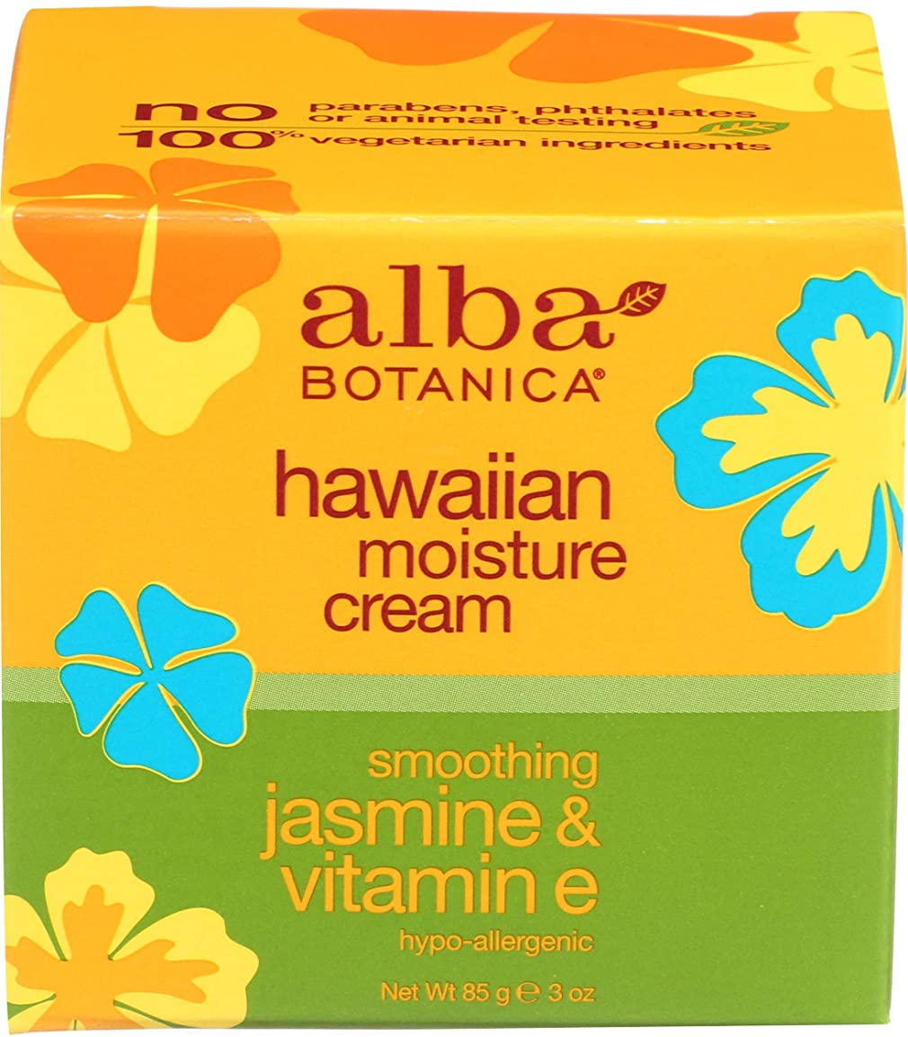 Alba Botanica ハワイモイスチャークリーム、スージングジャスミン&ビタミンE 3オンス(パック