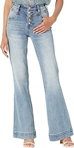 High-Rise Trousers in Medium Vintage W8H9764