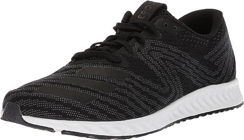 Adidas - Aerobounce Pr Hombre Hombre, schwarz (Core schwarz Metallic Silber Weiß), 43 EU