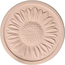 MountainStone CSR4 Rose Sunflower Absorbent Stone Coasters-8 Pack, 4.2 x 4.2 x 0.4