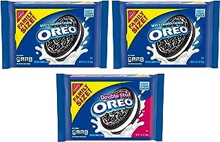 OREO Original & OREO Double Stuf Chocolate Sandwich Cookie Variety Pack, Family Size, 3 Packs