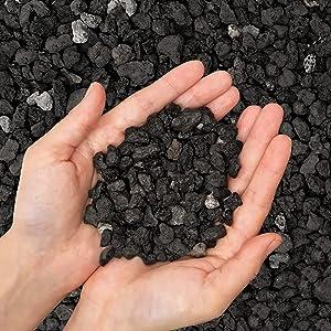 2.7lb Horticultural Lava Rocks - Black Decorative Landscaping Pebbles,Pumice Potting Soil Amendment,Additive for Succulents,Cactus Bonsai,Crafts,Vase Fillers,Terrarium,Fairy Gardening ,Top Dressing .…