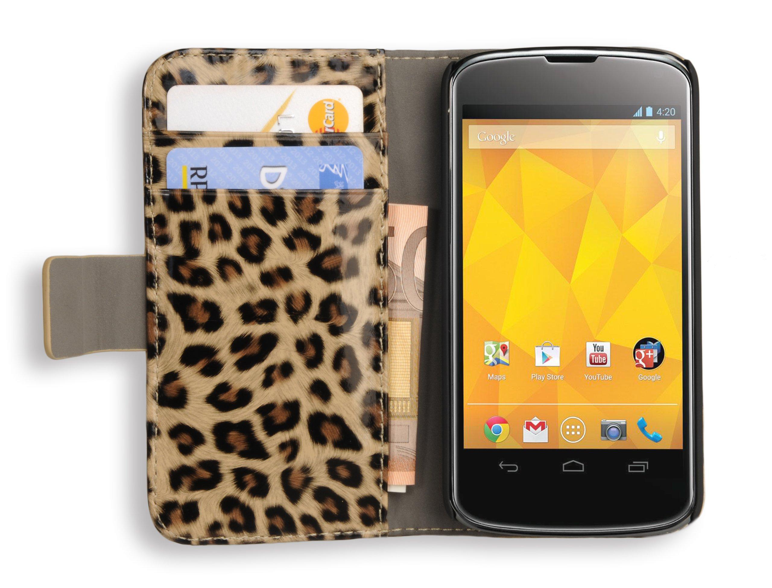 Avanto Wallet - Funda con soporte para LG E960 Nexus 4 marrón ...