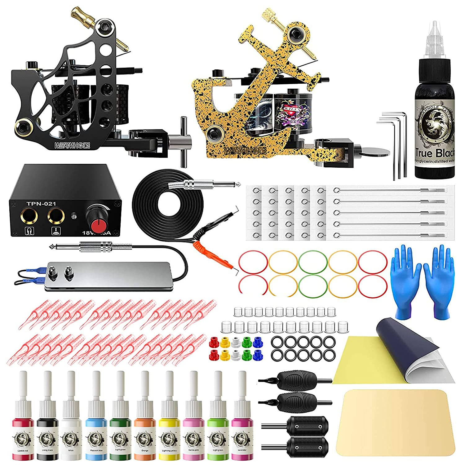 Wormhole Tattoo Kit Complete Safety Choice and trust Beginne for Machine Coil