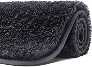 Poymecy Bathroom Rug Non Slip Soft Water Absorbent Thick Large Shaggy Floor Mats,Machine Washable,Bath Mat (Grey,59x20 Inc...