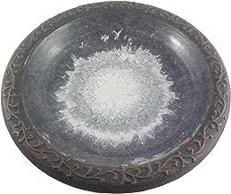 Tierra Garden 4-8177T Gloss Bird Bath Bowl with Matte Rim, Sand