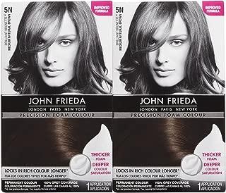 John Frieda Precision Foam Hair Colour, Medium Natural Brown 5N, 2 pk