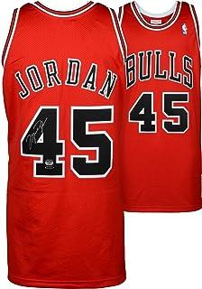 online retailer 24c7f bd557 Michael Jordan Chicago Bulls Autographed Red Mitchell   Ness  45 Jersey -  Upper Deck -