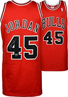 Michael Jordan Chicago Bulls Autographed Red Mitchell & Ness #45 Jersey - Upper Deck - Fanatics Authentic Certified