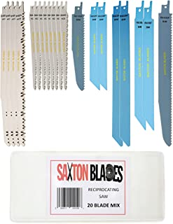 RPR20MXA Saxton 20 Blade Reciprocating Sabre Saw Combo Wood Metal & Demolition fits Bosch, Dewalt, Makita