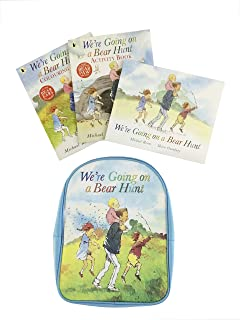 WE'RE GOING ON A BEAR HUNT BACKPACK including 3 Books Set