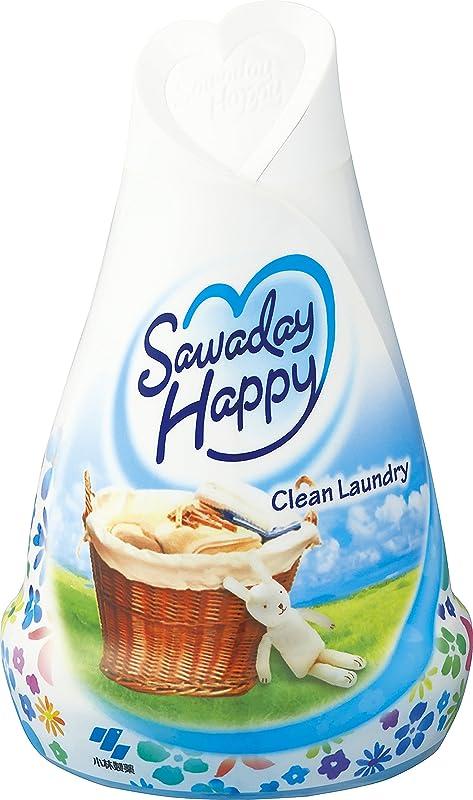 まさにクリエイティブレトルトサワデーハッピー 消臭芳香剤 部屋用 クリーンランドリーの香り 150g