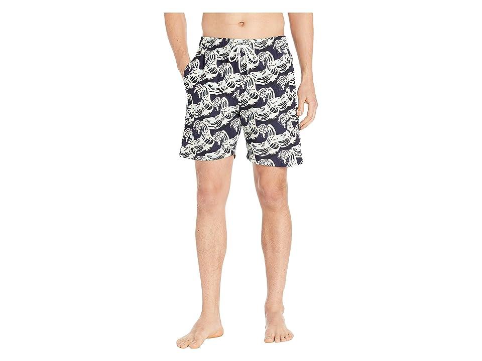 U.S. Surf Club Eastern Wave Swim Shorts (Classic Navy) Men