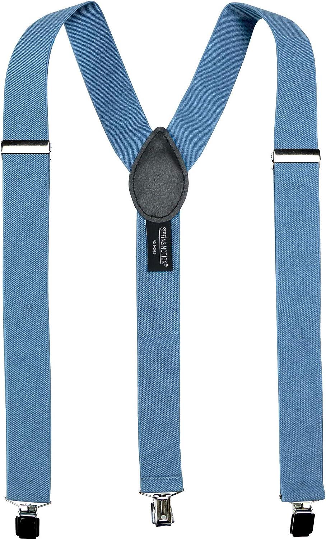 Spring Notion Men's Solid Color Suspenders