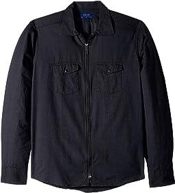 Slim Fit Tonal Flannella Zipper Shirt