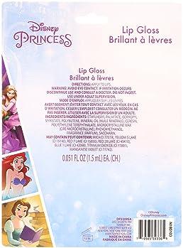 Disney Ariel Kids Washable Party Favor Lip Gloss, 7 Flavors include Cotton Candy, Strawberry, Berry, Bubble Gum, Grap...