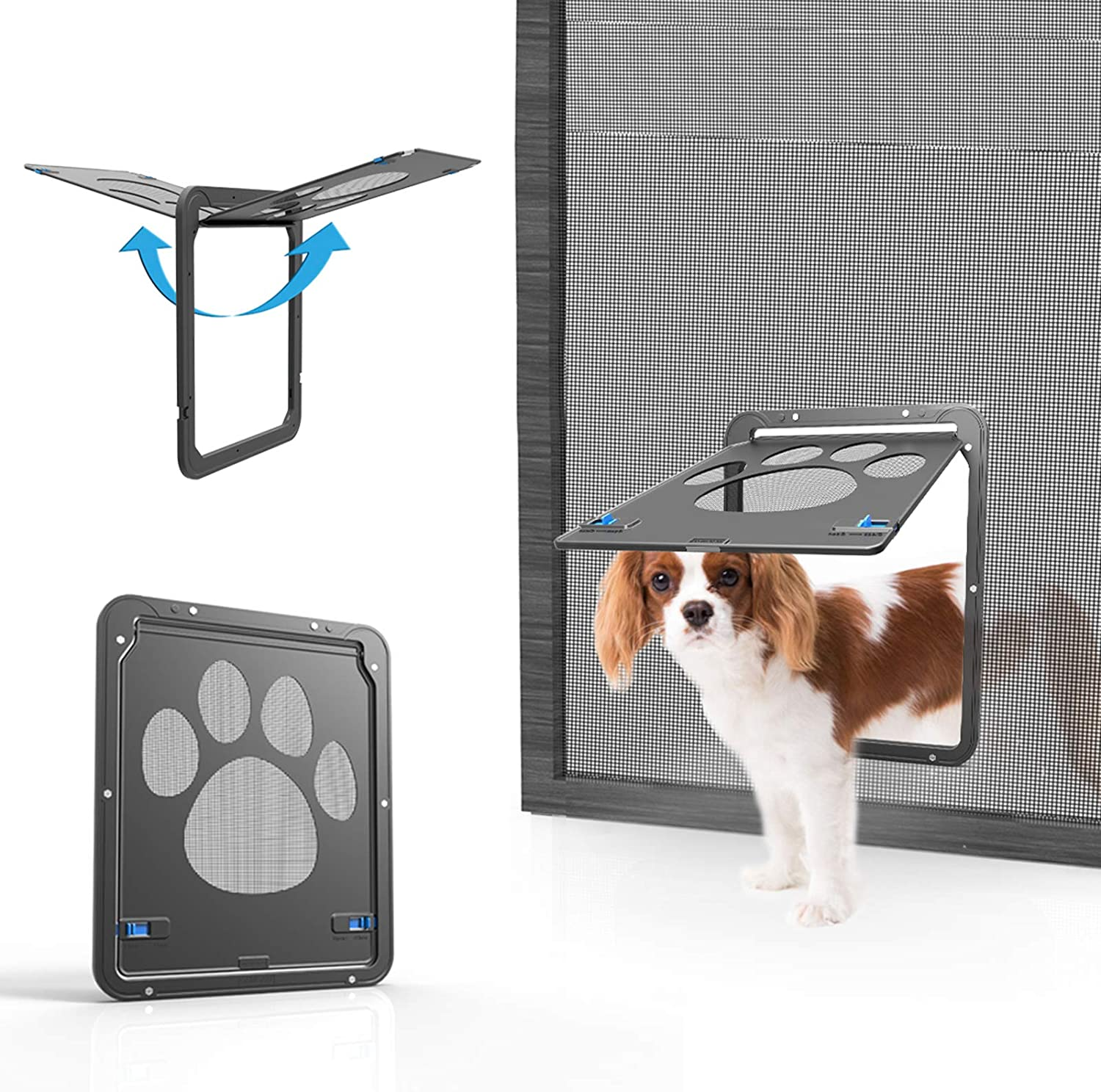 Pet Door Choice Free shipping / New Screen Sliding Cat Magnetic Dog Lockable