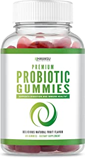 Havasu Nutrition Probiotic Gummies for Adult Men, Women and Kids - Supports Digestive & Gut Health - 1 Billion CFU of Friendly Bacteria - Shelf Stable, Dairy Free, Non-GMO, 60 Gummies