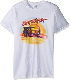 Baywatch Airbrush Adult Short Sleeve T-Shirt