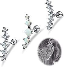 LOLIAS 3Pcs 16G Cartilage Stud Earrings Women Girls Conch Helix Piercing Jewelry Set