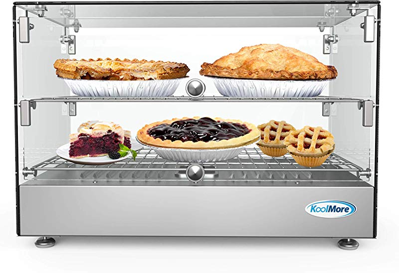 KoolMore 22 Self Service 2 Shelf Commercial Countertop Food Warmer Display Case 1 7 Cu Ft